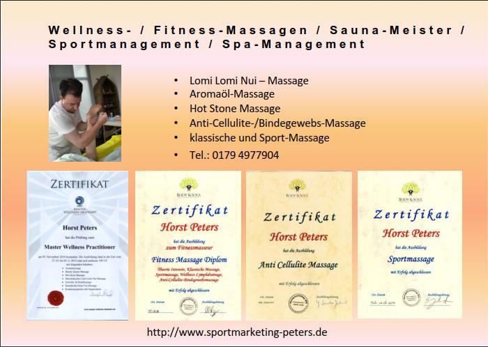 Sportmanager - Sauna Meister - Fitness-Masseur - Wellness-Master